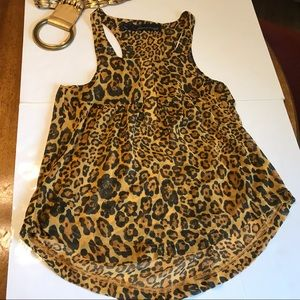 Patterson J. Kincaid Anthropologie Top Leopard XS